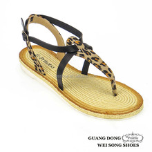 Leopard Leather Sandals For Women Very Hot Sell Girl Sex Nude Women Shoes