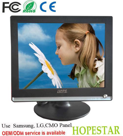 Vesa de escritorio o dvi/vga/hdmi de entrada 12 voltios 15 pulgadas el monitor lcd