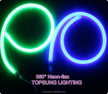 waterproof IP65 360 degree 16mm round led neon light sign ce&rohs