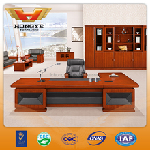 2015 more popular wooden with PU leather executive desk HY-D05