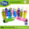 Easylock transparent plastic water bottle in different shapes