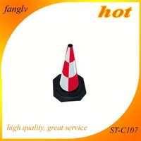 Use extensively durable traffic rubber cone foamed rubber cone