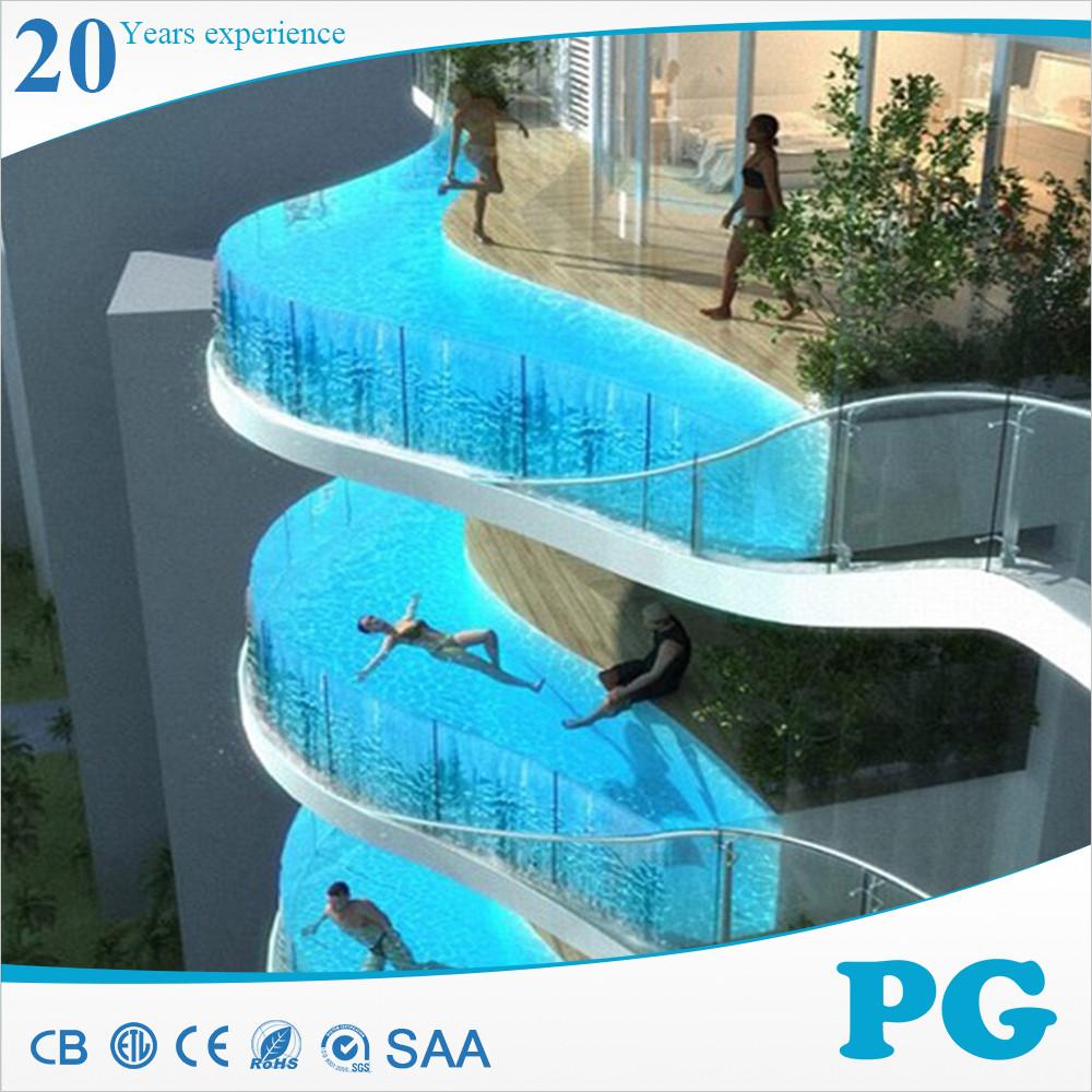 Pg alto padr o de acr lico transparente plexiglass piscina for Piscina de acrilico