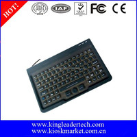 Integrated mini mouse with silicone rubber keyboard