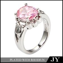 clásica de cobre grande de diamantes anillo de compromiso