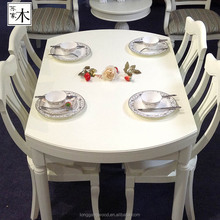 Modern design dining table / dining tables and chairs / round dining table set in canton fair made in china wood furniture