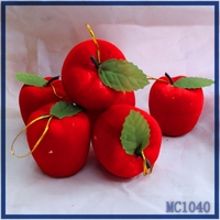 Wholesale 2016 christmas decoration factory price high quality hot sale polyfoam material christmas red apple pendant