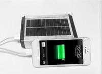 Alibaba Wholesale 10400mAh Portable Solar Power Bank With LED Lamp