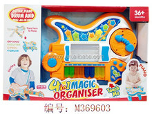 New design piano,guitar,projection and drum 4 in one multifunction baby toys with flashing light and music include battery ,toys