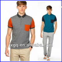 custom polo shirt design with combination new design two color cotton polyester polo shirt