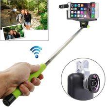 Factory Price 0.4X Camera Len+Smartphone Bluetooth Selfie Monopod for iPhone,for Samsung etc.