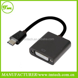 accept small MOQ USB 3.1 C type male to DVI cable adapter