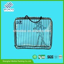 recyclable clothes carrier bag, clear PVC bag to pack clothes, Plastic clothes box for gift SHWK1130