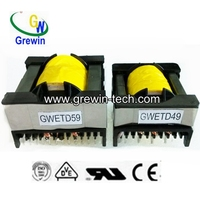 small high frequency high voltage electronic transformer for 12v halogen lamps with EE EFD ETD PQ RM bobbin