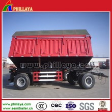 10-25 Tons Full Type Side&Rear Dump Tractor Tipping Trailer With Drawbar