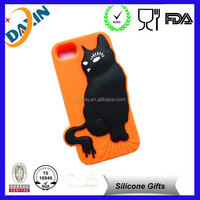 custom design 3d shaped waterproof animal silicone phone case