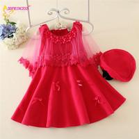 2015 Fashion latest winter little girls prom dress designs formal kids 3 year old girls winter dress