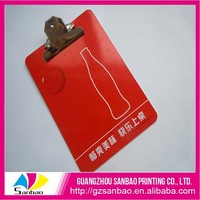 Sales Promotion High Quality Custom Design Colourful Clipboard Hardware