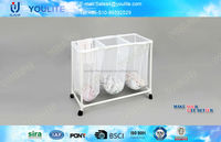rolling moving plastic laundry basket