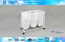 rolling moving plastic laundry basket
