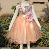 2015 boutique new style sequin girl dresses, pakistani baby frock, latest children dress designs