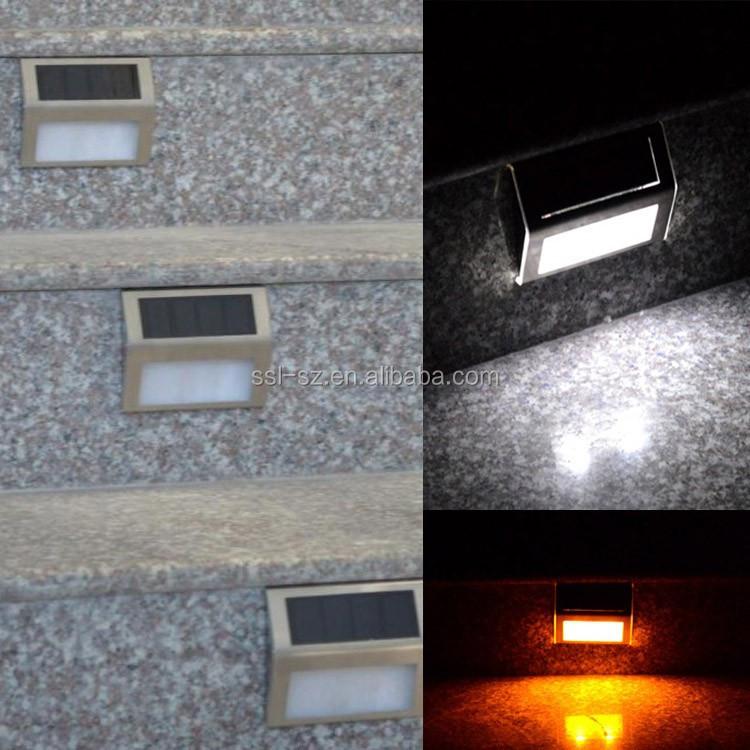 Solar Outdoor Pir Wall Lights Motion Sensor Light Led Solar Step Stair Light
