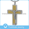 Retro Style Classic Gold Color Stainless Steel Religious Engraving Bible Verse Cross Pendant Cremation Keepsake Urn Jewelry