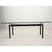 Modern Dining table Le Corbusier LC6 Glass Dining Table