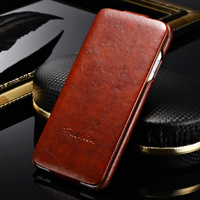 Newest design engraved PU vintage hard flip leather case for Iphone 6