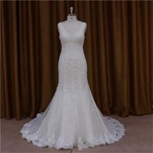 New model 2015 transparent long train bridal dress