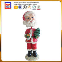 new coming father christmas figurines bobble head and christmas decorative items and resin santa claus bobble head