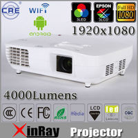New arrival !!Large 200inch 4000lms 3LCD 3LED 1920x1080 1080P Full HD LED Laptop Computer Video Projector X2000PX