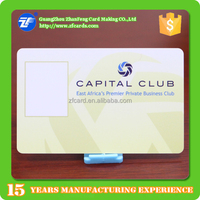 Guangzhou factory price 13.56mhz F08 pvc rfid magnetic photo id card