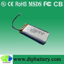 UL approval 542043-2P 3.7v 800mah li polymer battery pack for creative headphone
