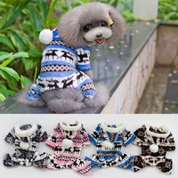 2015 HOT SELLING fashion noble winter warm dog apparel in artificial wool material