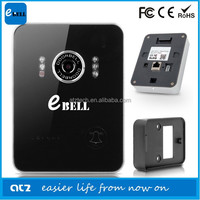 2015 atz ebell brand security wireless alarm family doorbell with ip survellience camera night vision ir 3m wifi connect 15-30m