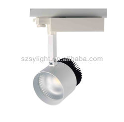 High lumen 3 wires track lamp CE RoHS SAA C-tick track focus lighting 40watts cob lighting