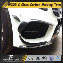 6pcs/set W205 Front BUmper Decoration, C Class C180 C200 C260 Sport Carbon Fiber Molding Trims for Mercedes