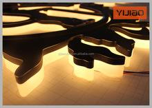 led acrylic backlit channel letter for warning sign