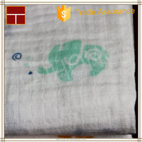"""made in china 100% Organic Cotton Muslin Wrap Blanket 47x47"""" Baby Muslin Swaddle"""