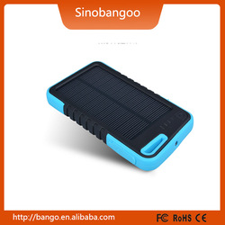 wholesale products China power supply solar panel charger 5000mah power bank