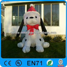 6 Feet lovely inflatable christmas decoration dog