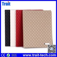 Woven Texture Pattern Flip Stand PC+PU Leather Case for iPad 2 / iPad 3 New iPad/ iPad 4 Flip Cover Case