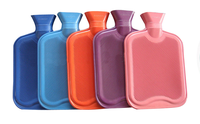 2L BS standard natural rubber hot water bottle silicone