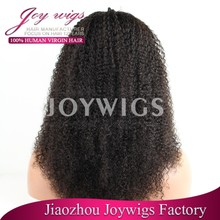 Venta al por mayor barato sin procesar del pelo humano del pelo brasileño pelucas para mujeres negras