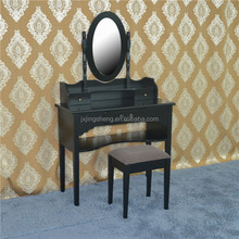 Modern cheap high quality china wooden black dressing table