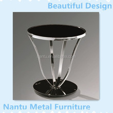 stainless steel and tempered glass coffee table