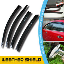 Window Visors Rain Guard 4pcs Rear Deflector For Renault Koleos 09-13