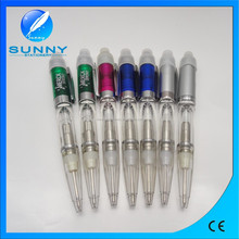 2015 new design promotional metal ball pen with led,multi-function led ball pen made in China