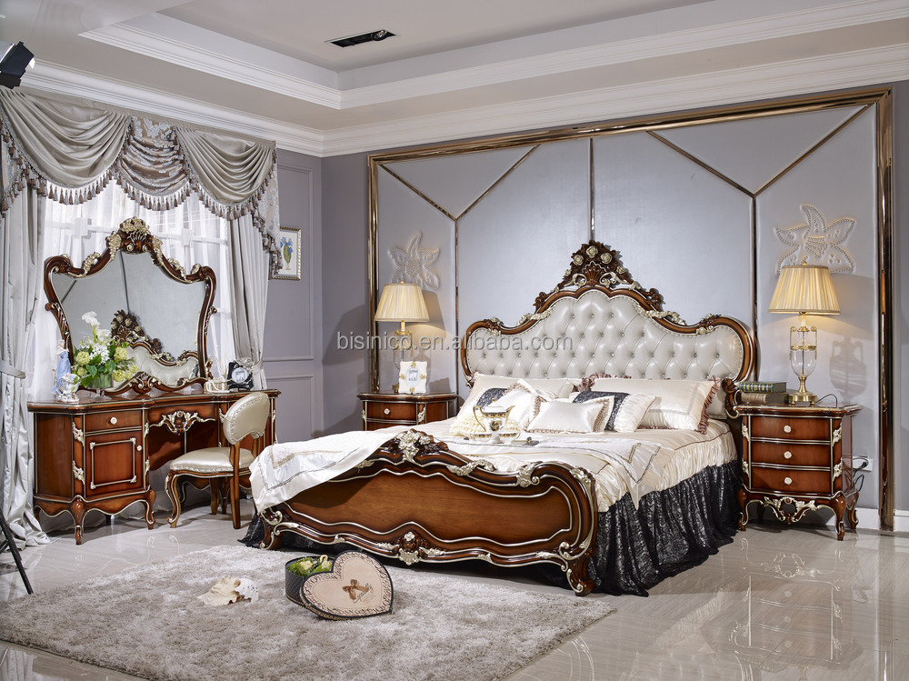 eau style luxe antique lit mobilier de chambre de luxe. Black Bedroom Furniture Sets. Home Design Ideas